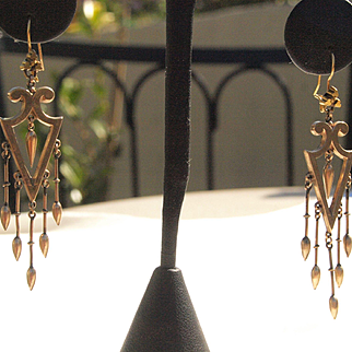 Extra Long Shoulder Duster Victorian Dangle Earrings