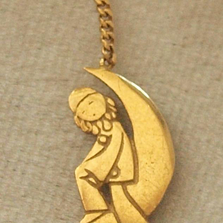 18k French Pierrot Clown Charm