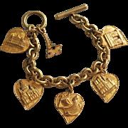 Unusual, Early Paris Souvenir Bracelet