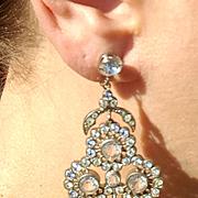 Shoulder Duster 1920's Flapper Paste Earrings