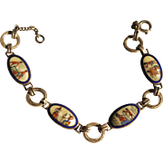 1920's Egyptian Revival Sterling Enamel bracelet