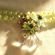 Louis Rousselet French Glass Necklace