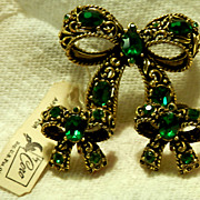 CORO Demi-Parure - Brooch & Earrings