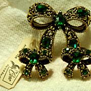 CORO Demi-Parure - Brooch & Earrings
