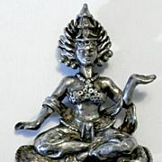 "KORDA Thief of Baghdad ""Hindu Goddess Shiva"" Brooch"