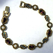 ART Faux Gem & Pearl Gold-tone Slide Bracelet