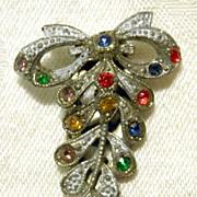 Small CZECH Art Deco Dress Clip