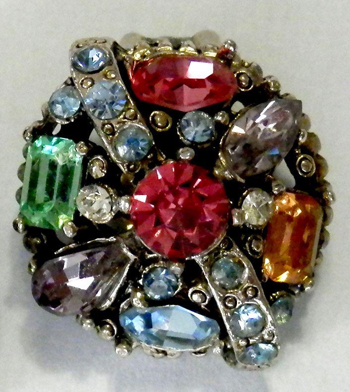 HOLLYCRAFT Pastel Rhinestone Earrings