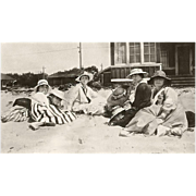 Antique Photograph: Circa 1915 End of Summer Beach Scene