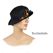 Vintage 1920s Hat!   Woven Horsehair for Summer, Fully Handmade with Papier Mâché and Hand-Painted Linen Trim
