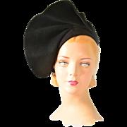 Rare, Mint Vintage 1930s Couture Cashmere Hat
