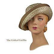 Vintage 1950s Hat, Flexible Retro Summer Breton May Be Worn Multiple Ways! Divine!