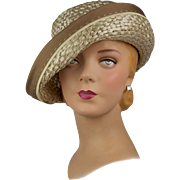 Vintage 1950s Hat, Flexible Retro Summer Breton May Be Worn Multiple Ways! Divine!