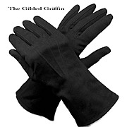 Vintage Black Gloves Scarce Size 8, Date About 1953