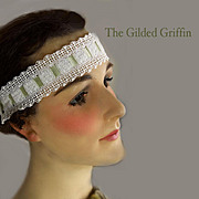 Vintage 1920s Hair Bandeau Rare! With Silk Ribbon Ties From France. Mint Condition, with Provenance.