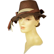 Vintage Hat with Distinct Millinery Style, Appears Never Worn