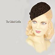 Vintage 1930s Sculpted Hat