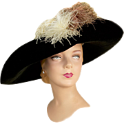 Antique Edwardian Hat by Louise Burger, Adrian Michigan Milliner , with Provenance