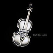 Vintage Cello Sterling Silver Brooch, Estate