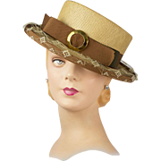 Vintage 1950s Claude Saint-Cyr Designed Hat, Magnificent Quality with Chic French Style