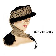 Vintage 1950s Couture Hat Created From Felted Cashmere, Silk and Glass Beads