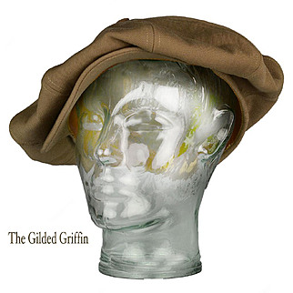 Extremely Rare 1920s Driving or Golf Hat For Men, MINT, in Larger Size Than Most, Original Price Tag