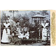Unusual Photo Dated 1907 Dolls, Working Servants, Family