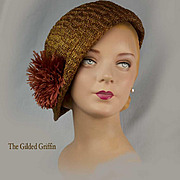 Vintage 1920 Flapper's Hat, Extremely Rare and in Magnificent Condition