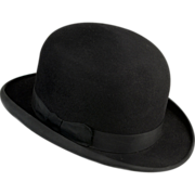 Rare French 1920s Bowler, Derby ou Le Chapeau Melon In Large Size & Appears Never Worn