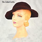 Vintage 1940s Fur Felted Hat in Unworn Condition, Gorgeous!