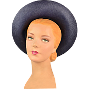 Vintage 1950s Straw Halo Hat