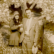 Vintage Photograph, 1920s Great Gatsby Era, Flapper, Lovers