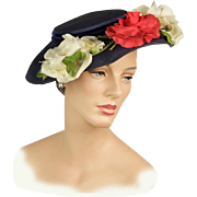 Vintage 1950s Hat: Sweet Magnolias and Roses