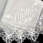 Antique Linen & Lace Mother-of-the-Bride Victorian Handkerchief