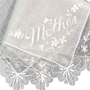 Antique Linen & Lace Mother-of-the-Bride Victorian Handkerchief