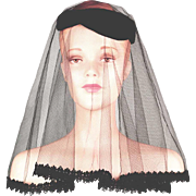 Rare! Sally Victor Hat with Original Veil...Historically Important