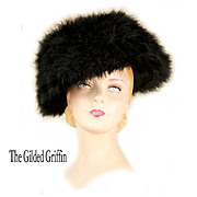 Antique Edwardian Hat Dates to About 1905, Cygnet-Marabou Feathers in Near Mint Condition!