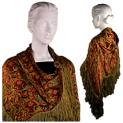Vintage 1920s Bohemian Shawl for a Flapper's Night Out