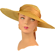 Vintage Late 1940s Picture Hat