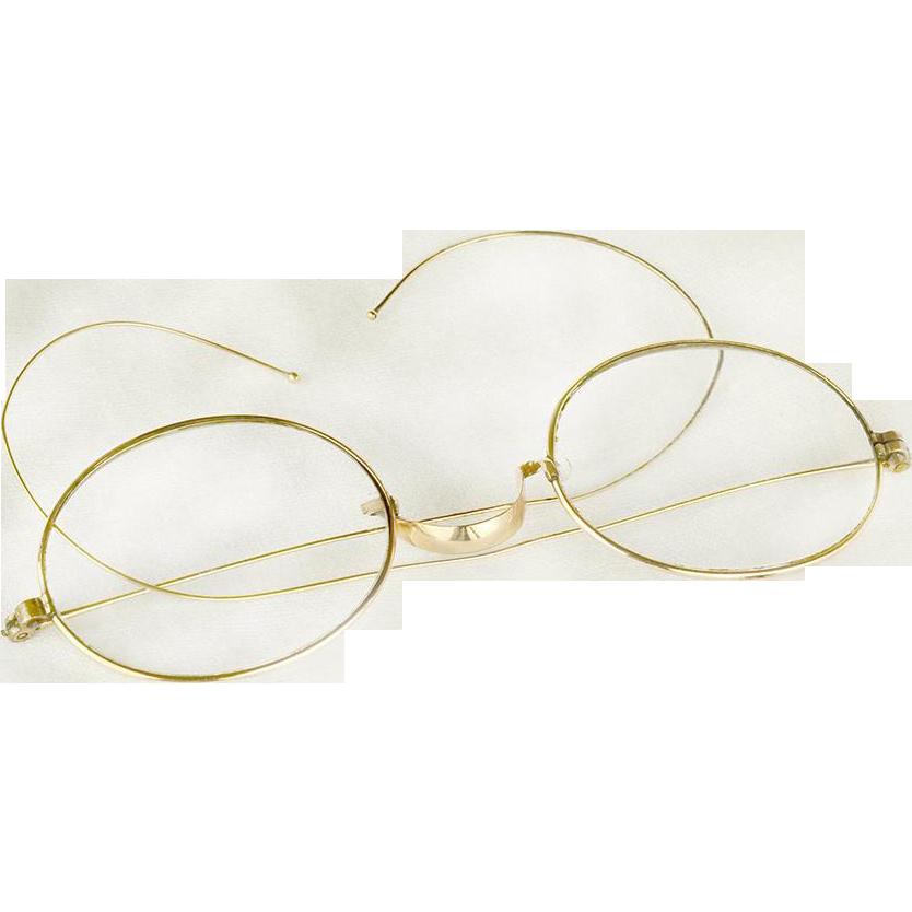 10k Gold Eyeglass Frames : Antique Victorian Women s 10K Gold Filled Eyeglasses or ...