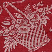 Antique Turkey Red Victorian Damask Linen with Fine Jacquard Center Design