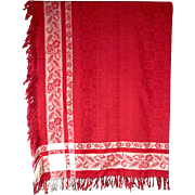 Victorian Turkey Red Tablecloth