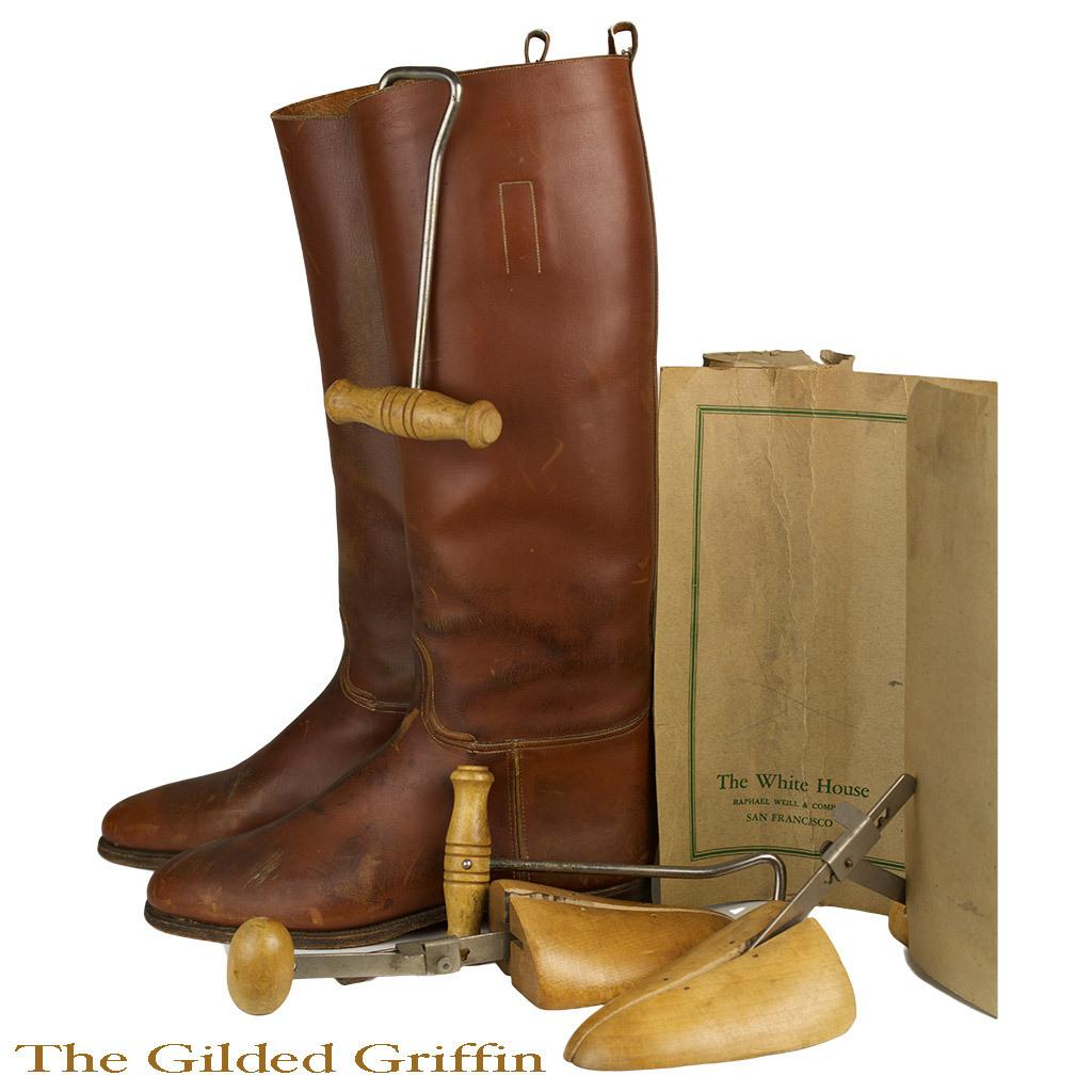 Vintage 1940s English Riding Boots with Original Stretchers Boot ...