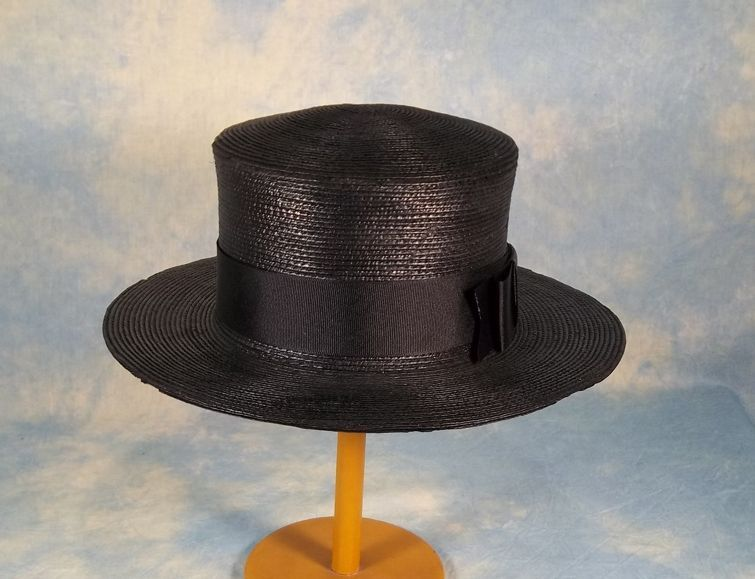 Gage Bros. Edwardian Straw Boater Ladies Vintage Hat