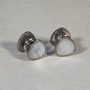 Vintage 1920's Snap Cufflinks with Mother of Pearl