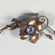 1940's Carl-Art Sterling Silver Vintage Flower Brooch