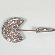 1930's Vintage Rhinestone Jabot Pin or Brooch