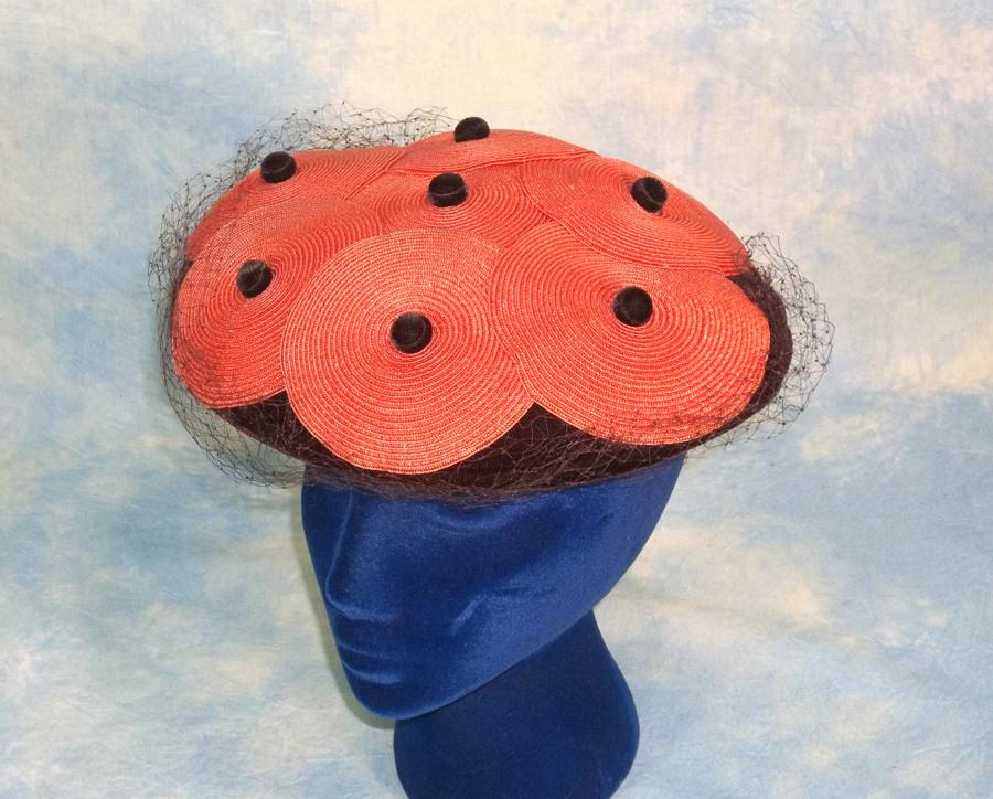 Elegant New Look Chez Original Crownless Ladies Vintage Hat