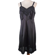 Vintage 50s-60s Black Nylon Full Slip