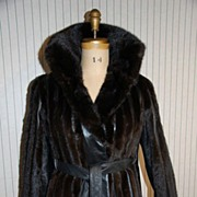 Mod Mink Fur and Black Leather Jacket coat